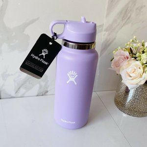 Hydro Flask Straw Lid Water Bottle 32 Oz Purple